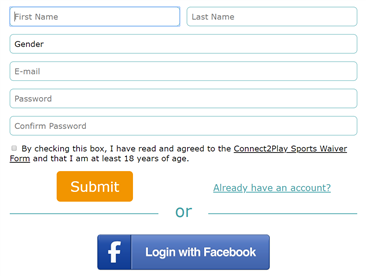 Sign up form for sports teams near me